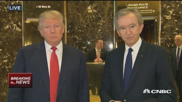 Trump on meeting with LVMH CEO