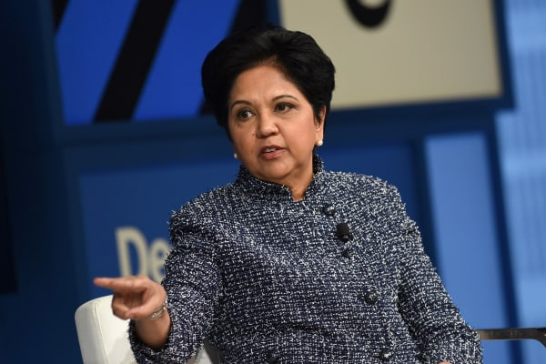 Chairman and CEO of PepsiCo Indra Nooyi speaks at The New York Times DealBook Conference