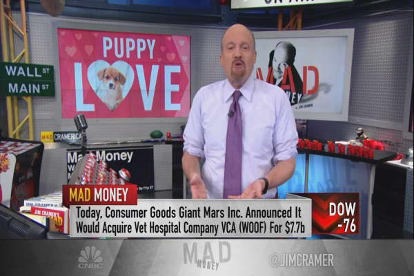 Cramer names the 'humanization of pets' as the greatest investing theme in the market
