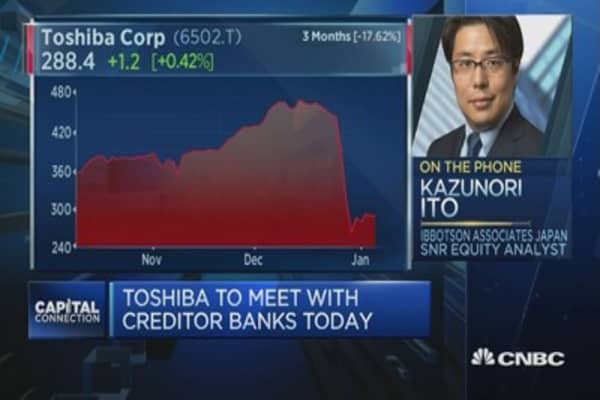 Toshiba's meeting with creditor banks