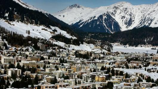 The Alpine ski resort of Davos
