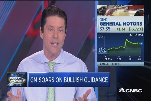 General Motors soars despite Trump worries
