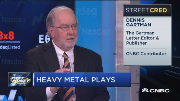 Gartman: We like things that if you drop on your foot will hurt