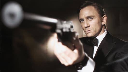 In this undated handout photo from Eon Productions, actor Daniel Craig poses as James Bond. Craig was unveiled as legendary British secret agent James Bond 007 in the 21st Bond film Casino Royale.