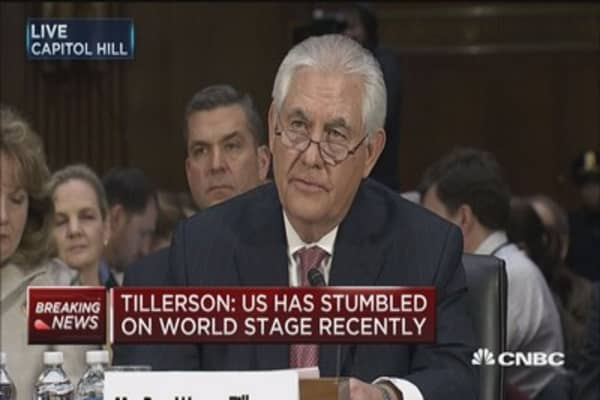 Tillerson: Unreasonable to expect human rights alone to drive foreign policy