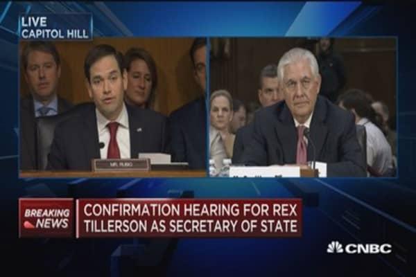 Tillerson: Would not describe Putin as 'war criminal'
