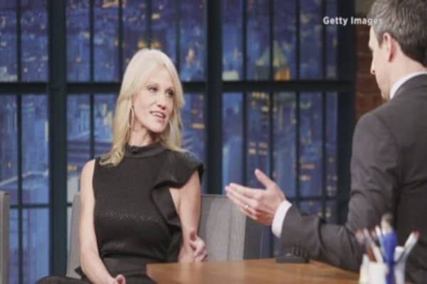 Seth Meyers grills Kellyanne Conway over Trump Russia briefings