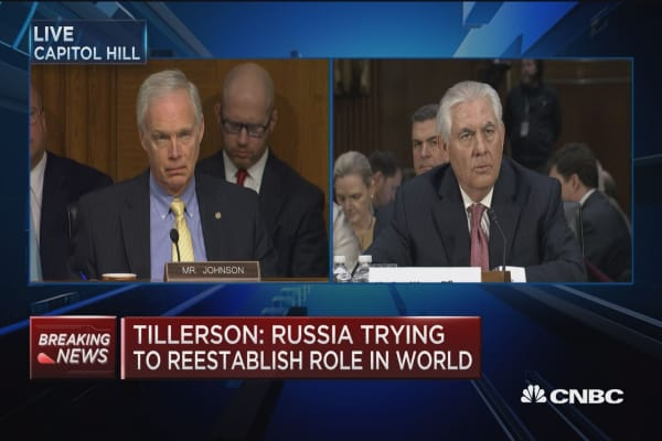 Tillerson: Russia wants to reestablish its role in world order