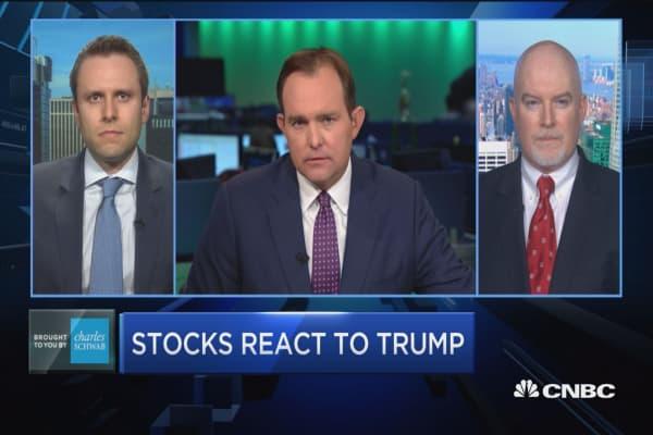 Trading Nation: Stocks react to Trump