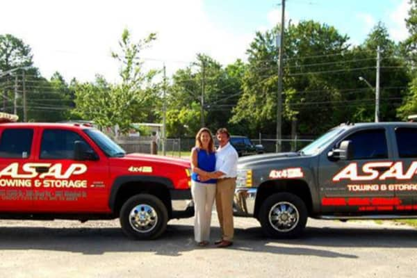 Vanice and Vincent Serrano started their towing company in 1995.
