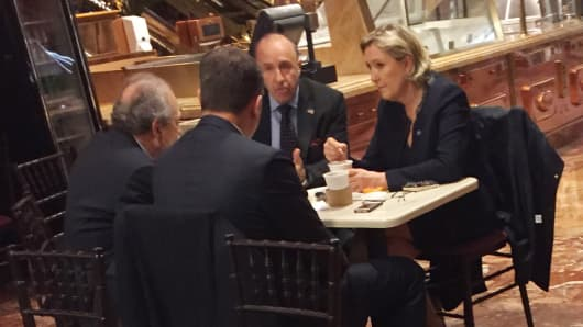 Marine Le Pen, leader of the French far-right Front National (FN) party, in Trump Tower on Jan. 12, 2017.