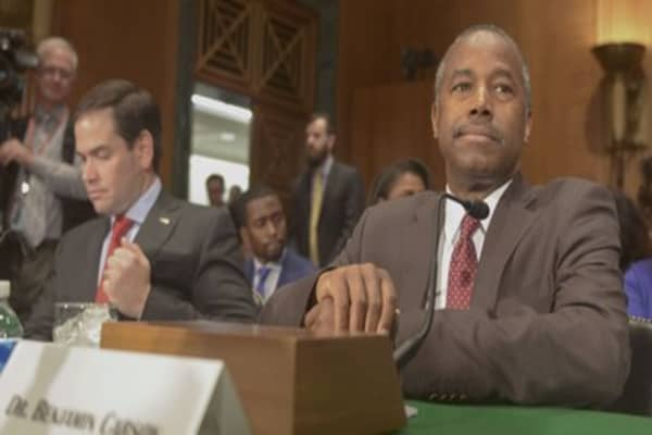 Housing secretary nominee Dr. Ben Carson refuses to promise taxpayer cash won't go to Trump real estate empire