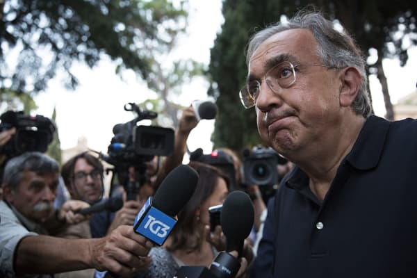 Sergio Marchionne, chief executive officer of Fiat Chrysler