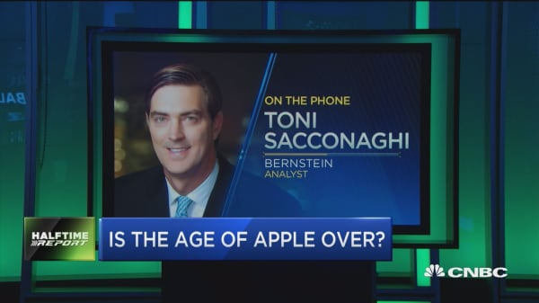 Sacconaghi: No doubt Apple's best days are behind it