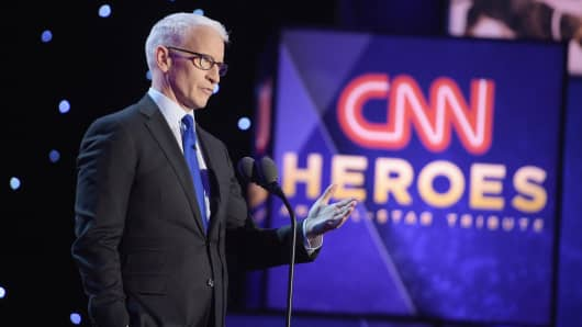 Host Anderson Cooper speaks onstage during the CNN Heroes Gala 2016 at the American Museum of Natural History on December 11, 2016 in New York City.