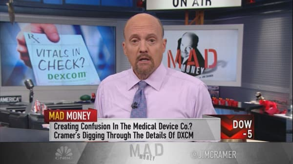 Cramer uncovers why Wall Street didn't see DexCom's monster 25% move coming