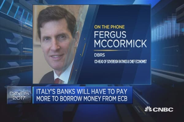 Italy's banks a contributing factor in rating downgrade: DBRS
