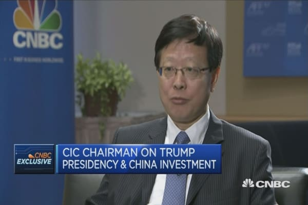 Trump will bring opportunities: China Investment Corp