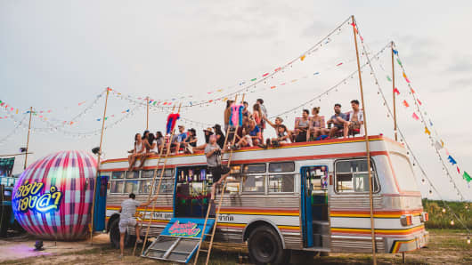 The Molam Bus, a regular feature at Wonderfruit, invites you to experience the authentic culture of Thailand's famed northeastern Isaan region.