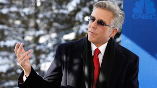 Bill McDermott, CEO of SAP at the World Economic Forum in Davos, Switzerland.