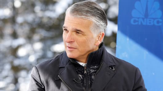 Sergio Ermotti, CEO of UBS AG Group at the World Economic Forum in Davos, Switzerland.