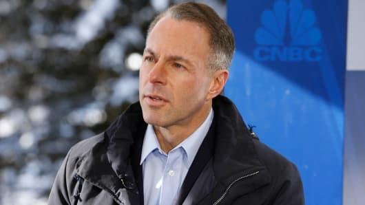 Devin Wenig, CEO of Ebay at the World Economic Forum in Davos, Switzerland.