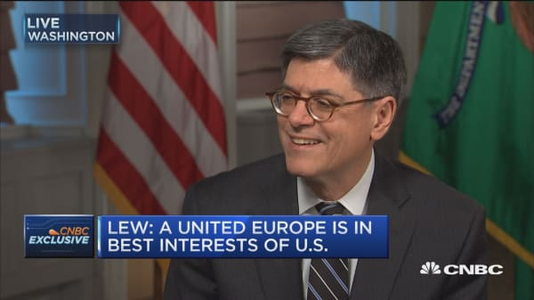Lew: United Europe is in best interests of US
