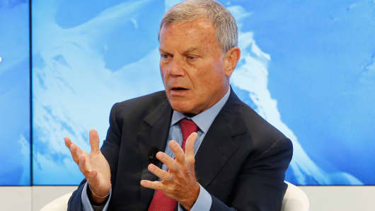 Martin Sorrell at the World Economic Forum in Davos, Switzerland on Jan. 17, 2017.