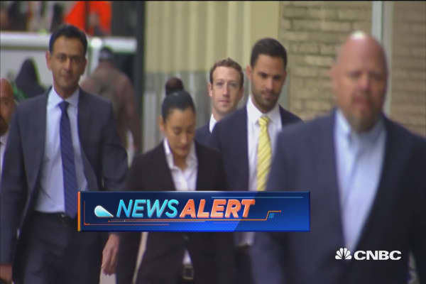 Facebook CEO Zuckerberg arrives in Dallas court