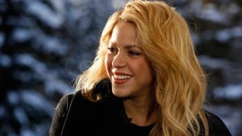 Shakira at the World Economic Forum in Davos, Switzerland.