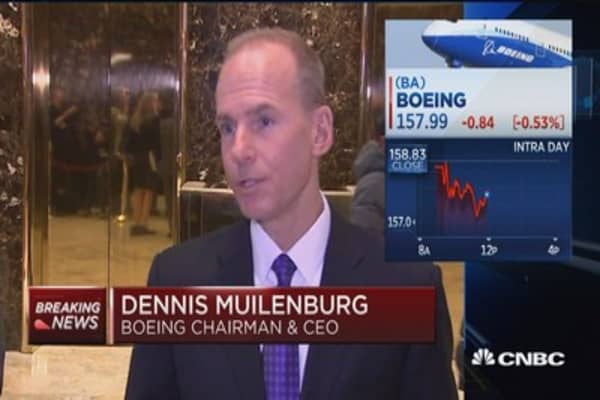 Trump doing a great job engaging business: Boeing CEO