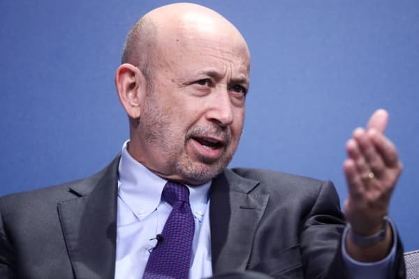 Lloyd Blankfein, chairman and chief executive officer of Goldman Sachs Group.