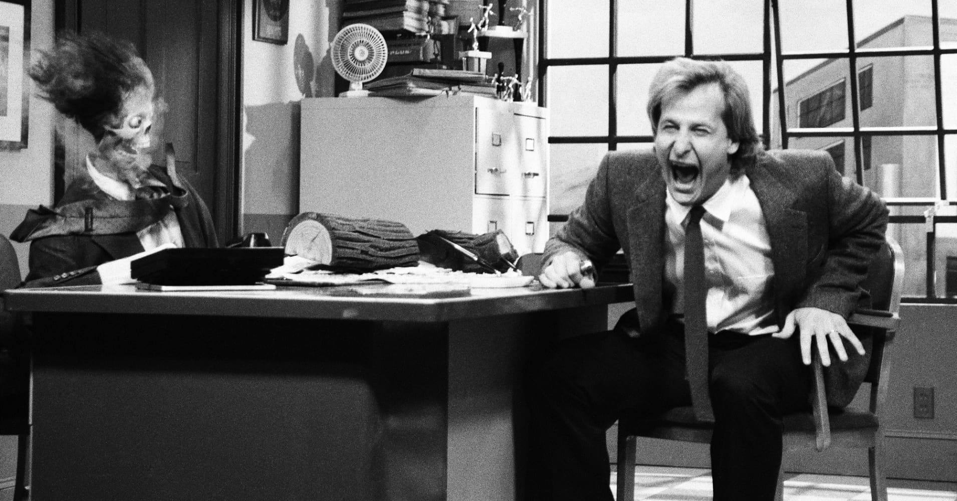 Jeff Daniels as Tom Jensen on Saturday Night Live October 5, 1991