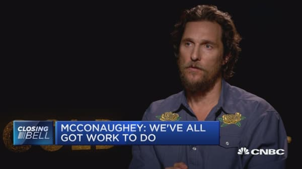 McConaughey: Capitalism is made by the entrepreneurs