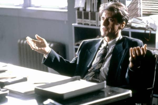 Al Pacino on the set of Glengarry Glen Ross