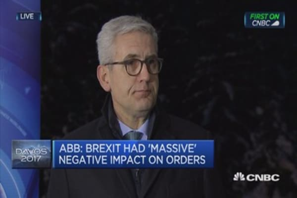 Brexit had massive negative impact on orders: ABB CEO