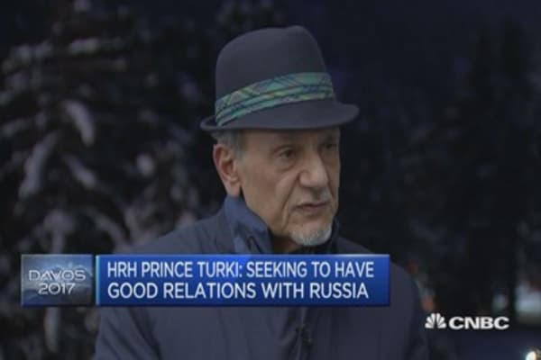 H.R.H. Prince Turki: Seeking to have good relations with Russia