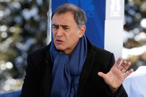 Nouriel Roubini at the World Economic Forum in Davos, Switzerland.