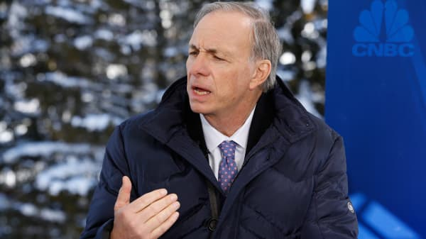 Ray Dalio at the World Economic Forum in Davos, Switzerland.