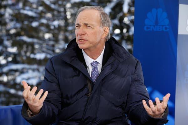 Ray Dalio at the World Economic Forum in Davos, Switzerland.