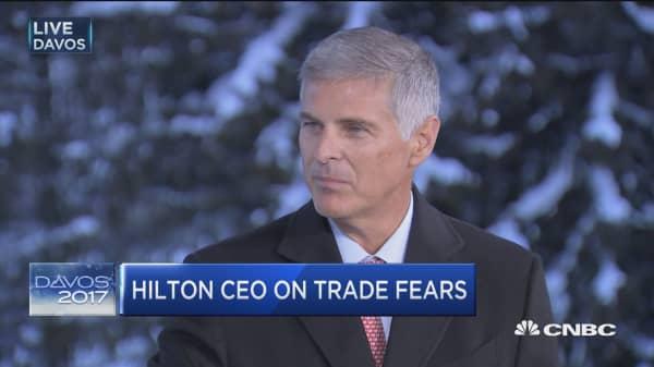 Hilton CEO on Trump rhetoric: It's just an opening salvo