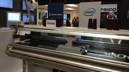 Shima Seiki and Intel partnered for an on-demand knitting machine that creates custom designs in 45 minutes.