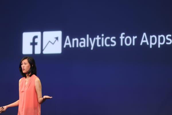 Facebook Product Management Director Deborah Liu speaks at the F8 summit