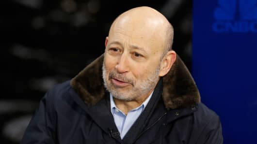 Lloyd Blankfein, Chairman and CEO of Goldman Sachs at the World Economic Forum in Davos, Switzerland.