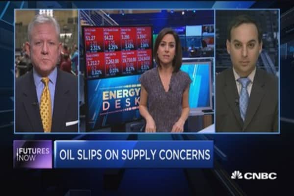Futures Now: Oil slips on supply concerns