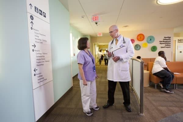 Dr. Thomas Tesoriero and nurse Rowena Shea