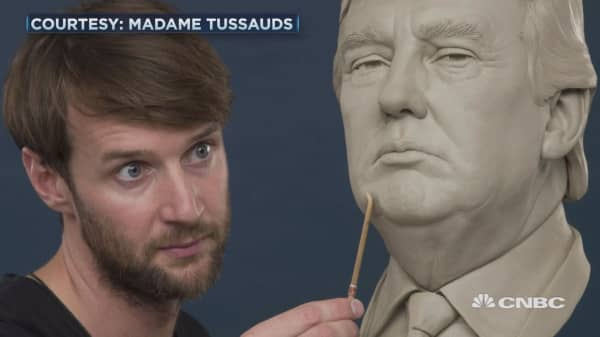 I get paid to maintain Donald Trump's wax figure