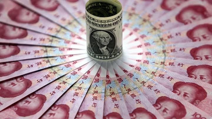 Chinese yuan and dollar
