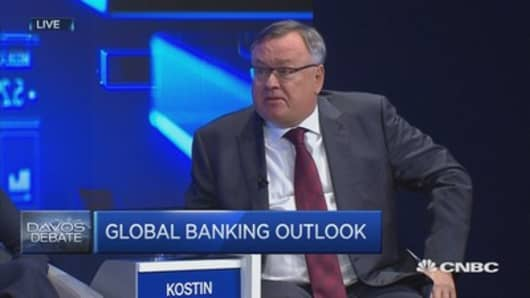 First sanctions to fall will be those on Russian financials: VTB Bank President