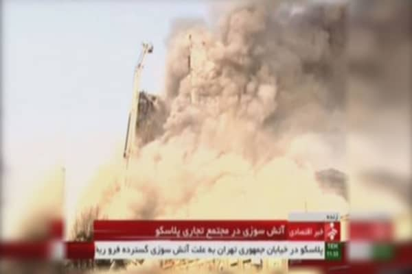 Iran building collapse